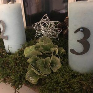 Juledekoration med Hortensia blade